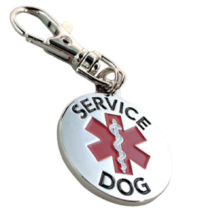 Service Dog Emotional Support Animal ESA Collar Dog Tag Metal ALL ACCESS CANINE™