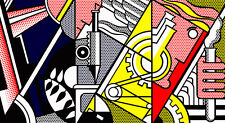 Peace Through Chemistry II Huge 180cm x 99cm by Roy Lichtenstein Canvas Print