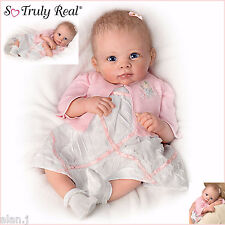 Ashton Drake lifelike  Baby Doll A Moment In My Arms Girl Poseable - Weighted