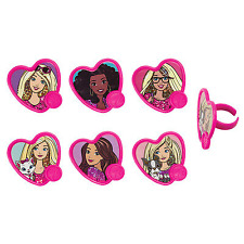 BARBIE DOLL - 12 Pieces - CUPCAKE RINGS