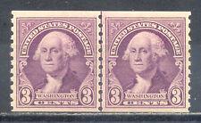 US Stamp (L196) Scott# 721, Mint NH OG, Nice Vintage Coil Line Pair