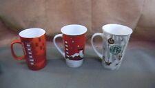 Lot Of 3 Starbucks 16 - 20 Oz  , Holiday Mermaid 2010 -2014 Cups/Mugs