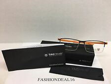 New Authentic Tag Heuer Reflex Titanium/Orange Frame TH3921 006 Eyeglasses
