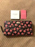 Kate Spade Neda Laurel Way Hazy Rose Zip Around Wallet WLRU5058 Rooster Red NWT