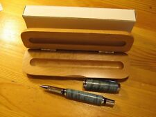 Thornbush Pens Handcrafted Green Curly Maple Burl Rollerball Pen w/ Wooden Case!