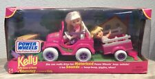 1997 Fisher Price Power Wheels Kelly & Tommy doll NRFB Barbie Shelly car jeep