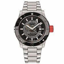 Edox 80099 3RM NIN Men's Stainless Steel Black Automatic Watch