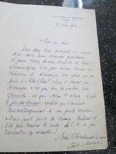 autographe PAUL BERRET , , écrivain , académicien , lettre du 7/6/1912