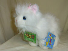White Persian Cat full size 8.5in blue eyes Webkinz pet sealed unused code HM110
