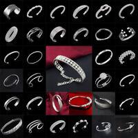 Mode Dame 925 Silberkette Plattiert Armband Schmuck Geschenke