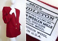 Vintage Pendleton Light Weight Virgin Wool Crimson Red Blazer Jacket M