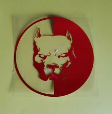 Pegatinas perro pitbull lucha perro Pegatina Sticker car rojo