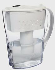New! BRITA 35566 SPACE SAVER DRINKING WATER FILTER PITCHER 6 CUP CAPACITY, WHITE