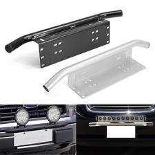 Universl Bumper License Plate Mount Bracket Off-Road LED Spot Flood Light Bar