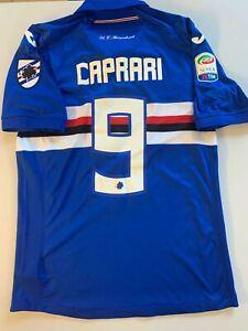 maglia SAMPDORIA 9 CAPRARI INDOSSATA Sampdoria-Benevento 2-1  20.08.17