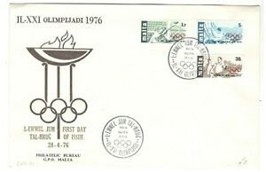 1976 MALTA FIRST DAY COVER MONTREAL OLYMPIC GAMES