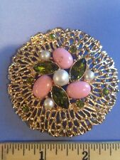 Sarah Coventry Vintage Brooch Pin Stunning Large