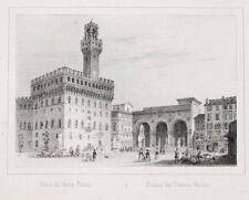C1840 Firenze Firenze Palazzo Vecchio litografia-vista Arnout