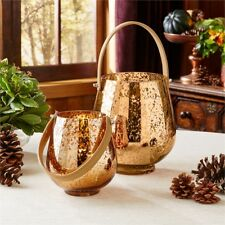 Two's Company - Candle Holder Set - Speckled Gold