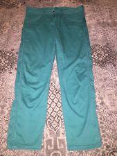 EUC Athleta Capri Cropped dress Pants Teal green Women's Size 8