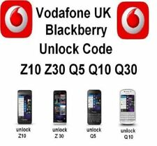 Código de desbloqueo Blackberry Passport Z10 Z30 Q5 Q10 Q20 Q30 9720-Vodafone Reino Unido solamente