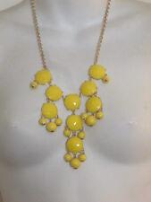 J.Crew Yellow Pyramid Bubble necklace NIP $150