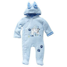 NWT Disney 101 Dalmations Boys Embroidered Hooded Romper Coverall Size 00