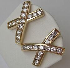 Designer ★ Brillant Ohrringe 750 Gold Ohrstecker mit Diamanten Wert 3.600 € 7541