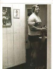 ARNOLD SCHWARZENEGGER 7x Mr Olympia Ready To Workut Muscle Photo B&W