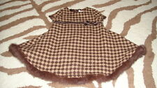 BOUTIQUE TRISH SCULLY CHILD 6M 6 MONTHS BROWN DRESS