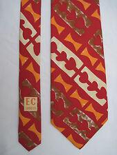 -AUTHENTIQUE cravate cravatte  ENRICO COVERI   100% soie  TBEG  vintage
