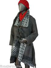 Gr. XL  Mantel Wintermantel Wollmantel Jacke Walkwolle Wolljacke Grau  ITALIEN