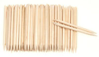 ORANGE PROFESSIONAL STICKS CUTICLE UV GEL SOAK OFF REMOVER WOODEN NAIL ART x100