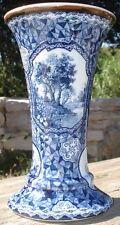 -Vase Cornet Ceramique XIX ème Franz Anton Mehlen Bonn Germany
