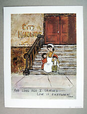 Vintage 1973 Flavia Weedn And Long Ago I Learned Love is Everywhere Print