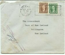1940 surface rate to NEW ZEALAND Foreign Exchange Control board cover Canada