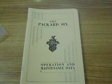 Packard 1937, Owners Manual, New , Very Nice !