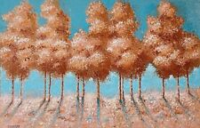 Landscape abstract tree oil painting on a large canvas. 51x76cm