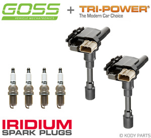 GOSS IGNITION COILS & IRIDIUM PLUGS - for Suzuki Jimny 1.3L M13A SN413 2000-05
