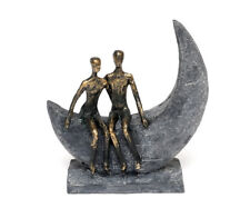 Decorative Figures Lovers on the Moon Sculpture Polyresin Love Gift Wedding
