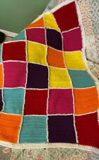 "Afghan , 40"" by 53"" , crocheted .Handmade,  multi colored"