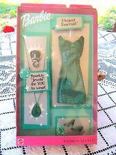 BARBIE FASHION AVENUE 2001 JEWEL SPARKLE ELEGANT EMERALD green dress shoes NIB