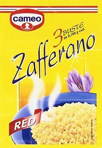 ZAFFERANO BUSTINE CAMEO RED ZAFFERANO ROSSO 3 BUSTE DA 0,1g PER RISOTTO MILANESE