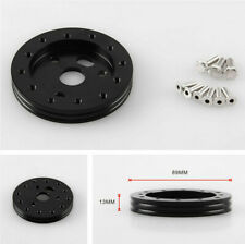 """0.5"""" Hub for 5 And 6 Hole Steering Wheel to Grant 3 Hole Adapter Boss Black"""