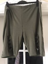 *Bnwt* Size 28 Gorgeous Yours Khaki Ripped Cycling Shorts