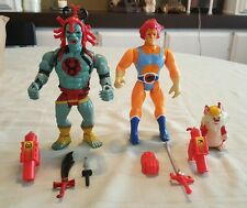 1985 LION-O (RED) & MUMRA w/WORKING EYES COMPLETE •C9 • VINTAGE LJN THUNDERCATS