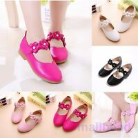 Fashion Toddler Baby Girls kids Flats Mary Jane Flats Dress Pink Princess Shoes