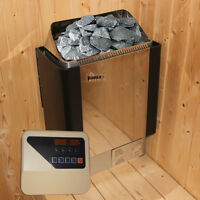 3/4.5/6/8KW SAUNA HEATER STOVE for HOME BATH SHOWER SPA@Stainless Steel House