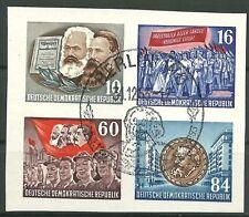 DDR Herzstück aus Block 9 B (Karl Marx) mit Sonderstempel
