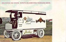 La Crosse WI John Gund Brewing Co. Peerless Beer Delivery Truck Postcard